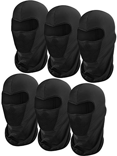 6 Pieces Balaclava Face Mask Motorcycle Mask Windproof Camouflage Fishing Cap Face Cover for Sun...