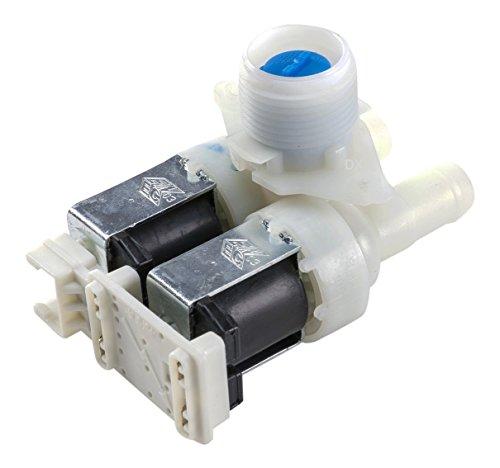 DREHFLEX–Válvula/magnético Válvula/Válvula de impulsión/Válvula de agua para diversos modelos de lavadora de Bauknecht/Whirlpool–Apto para piezas de nº 481227128558