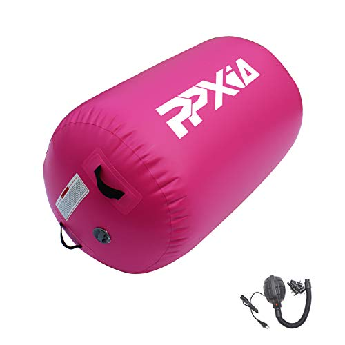 PPXIA 10ft 13ft 16ft 26ft Inflatable Gymnastics Training Mat Air Tumble TrackTumbling Mats 4 Inch Thickness with Pump for Home Use Pilates/Yoga/Training/Cheerleading/Calisthenics/Tumble/Gym/Plank/WaterFor Kids/gymnast/Housewife/Athlete Pink Cylinder1pcs Φ2362#039#039×Φ2362#039#039×3937#039#039thickness