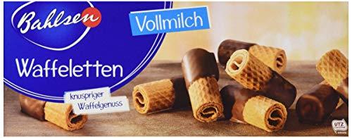 Bahlsen Waffeletten Vollmilch - 12er Pack - Hauchdünnes Waffelgebäck mit Vollmilchschokolade (12 x 100 g)