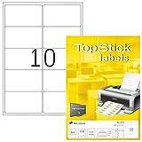 TopStick 8773 - Etiquetas autoadhesivas para direcciones A4 (99,1 x 57 mm, papel) 100 hoja...