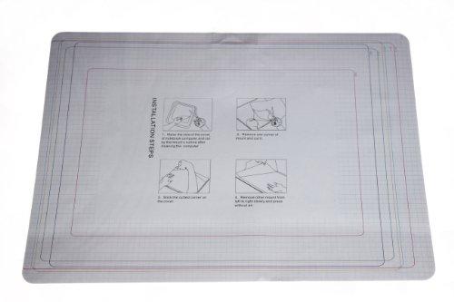 wortek Universal Laptop Aufkleber für Notebooks bis ca. 13,3 Zoll - Schmetterling Ranke Schwarz Weiß
