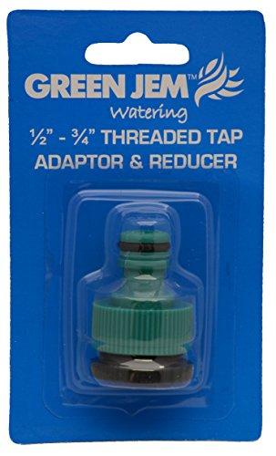 Jegs Adaptateur et réducteur robinet à visser standard, Green Jem