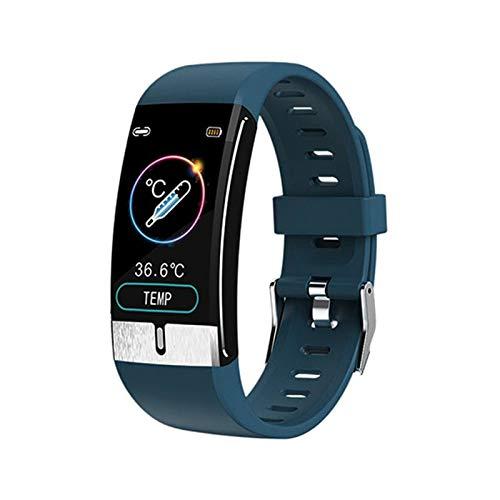 HMB IP68 Empresa Impermeable Actividad De Fitness Tracker Tasa del Corazón Paso Contador Monitoreo De Sueño Calorie Contador Hombres Y Deportes Women Smart Watch,C