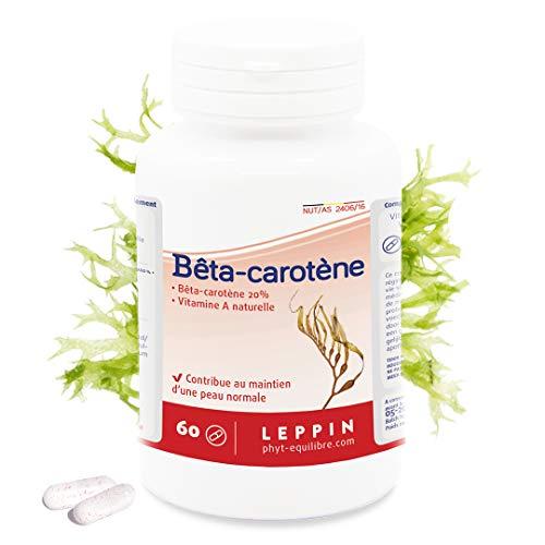 Leppin – Beta-carotene, 60 capsule di Pro vitamina A naturale antiossidante, integratore alimentare naturale
