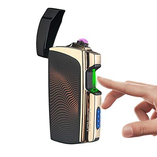 Promise by Honest Elektrische USB-winddichte aansteker, dubbele boog-aansteker, oplaadbaar zonder vlammen, zonder gas, met USB-kabel, voor kaarsen en sigaretten oranje