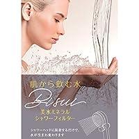 シャワーフィルター 肌から飲む水 美水(Bisui)ミネラルシャワーフィルター [bisui] クレイミネラル 髪のハリ・ツヤを保つ