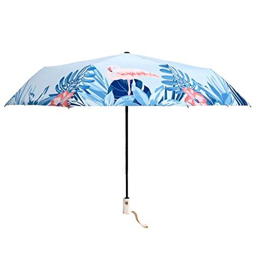 Regenschirm Anti-UV-Automatik Damen Kleine frische Regen Dual-Use-Large Retro Sonnenschirme