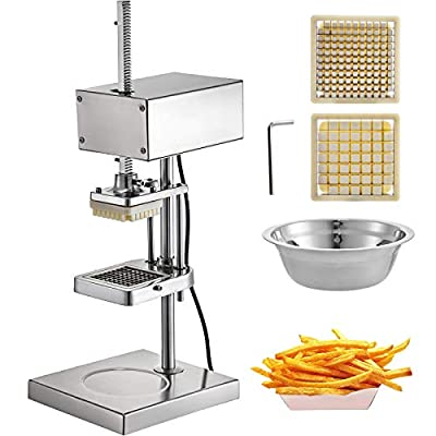 VEVOR Coupe-Frites 3/8 po Machine Coupeur de Légumes Electrique de Terre pour Couper Légumes et Fruits tels Que Pommes de Terre, Les Pommes, Les Concombres, Les Tomates