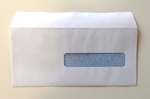 """CMS 1500 - HCFA Self-Seal Window Envelopes for Claim Forms (No. 10-1/2) 4-1/2"""" x 9-1/2"""", White with Inside Security Tint - 100 ENVELOPES"""