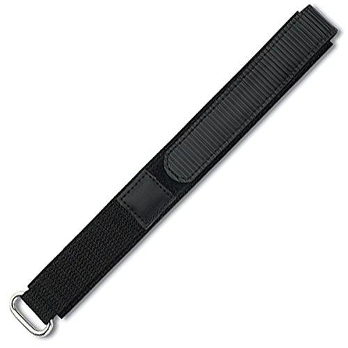 Eichmüller Textil Uhrenarmband mit Klettverschluss schwarz 18mm