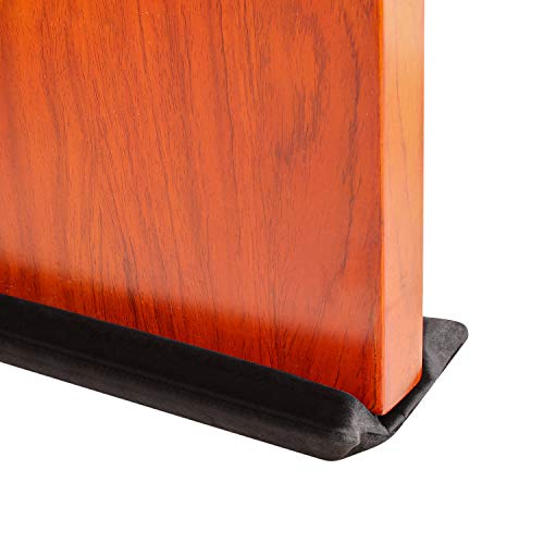 Emoly Under Door Draft Stopper,Improved Adjustable Double Draft Noise Blocker Sweep,Adjustable 32 to 38' for Sound Dust Proof (Black)