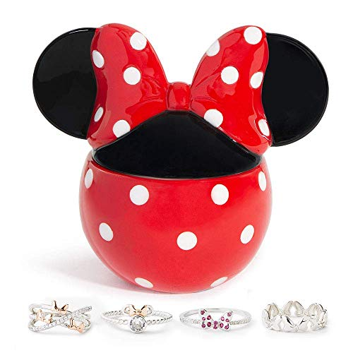 Charmed Aroma Disney Minnie Mouse Candle, 925 Sterling Silver Ring Collection (Ring Size 8)