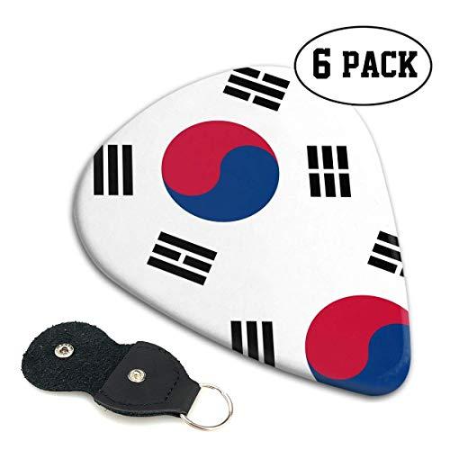 Koreaanse Vlag Celluloid Gitaar Pick .71mm 6-Pack - Muziekgeschenken voor Bass, Elektrische & Akoestische Gitaren