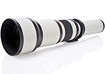 Opteka 650-1300mm  with 2X- 1300-2600mm  Telephoto Zoom Lens for Canon EF-Mount EOS 90D 80D 77D 70D 60D 50D 7D 6D 5D 5DS 1DS T8 T8i T7i T7s T7 T6s T6i T6 T5 SL3 SL2 DSLR Cameras
