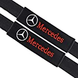 VILLSION 2Pack Mercedes Benz Auto Seat Belt Pads Cover Soft Cotton Car Safety Belt Cushion Neck Shoulder Pads