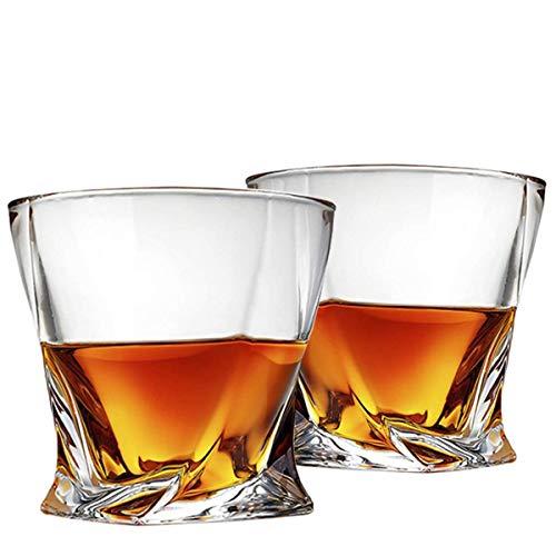 Cooko Twist Vasos de Whisky, Ultra-Clarity Juego de Vasos, Apto Para Lavavajillas, Regalos de Vino, Juego de 2 (300ML/10.6 oz)