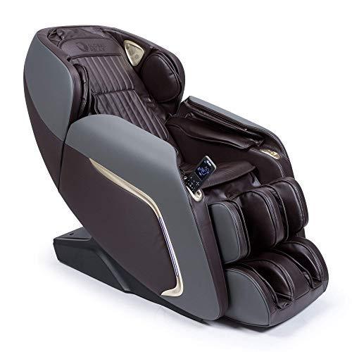 """Ananda® Sillón de Masaje 2D+ - Marrón (Modelo 2021) - 12 programas de Masaje Profesional y presoterapia - Termoterapia - Tecnología Gravedad y Espacio """"Cero"""" - Sonido Envolvente 3D Bluetooth - USB"""