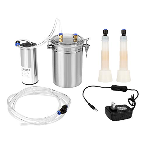 2L Electric Milking Machine Portable Stainless Steel Milker for Sheep Cows (110-240V)(Cows)