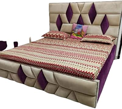 Paradise Furniture Solid Wood Queen Size Bed in Provincial Teak Finish