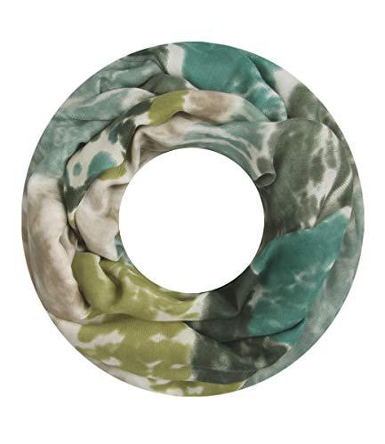 Majea Loop Schal Damen Schlauchschal - viele Farben - modischer Loopschal - Halstücher (grün 9)