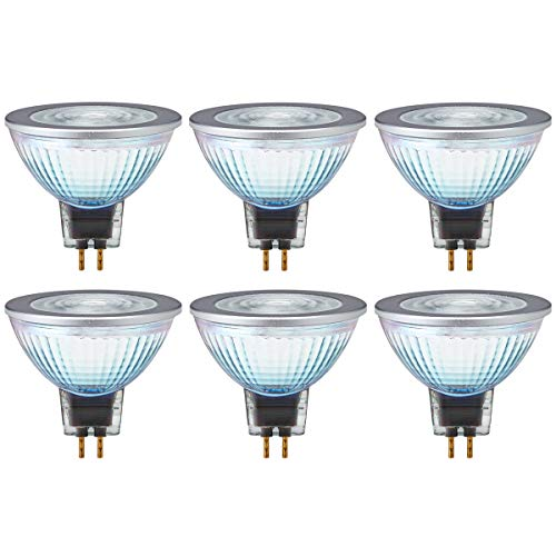OSRAM LED STAR MR16 50 36° GU5.3 Glas Strahler 8W=50W 621lm 80 Ra warm white 6er