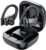 SHENXI Auriculares Bluetooth Deportivos,Auriculares Inalambricos, IPX7 Impermeable Cascos Bluetooth...