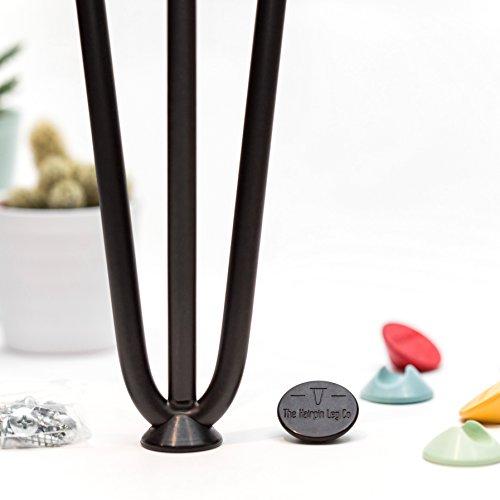 The Hairpin Leg Co. Protège-Pieds en épingle à Cheveux - Convient à Toutes Les Tailles - Toutes Les Couleurs
