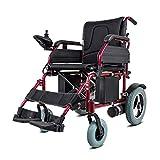 GJJSZ Scooter-3 intelligente disabile per anziani in lega di alluminio leggera pieghevole per sedie a rotelle elettriche