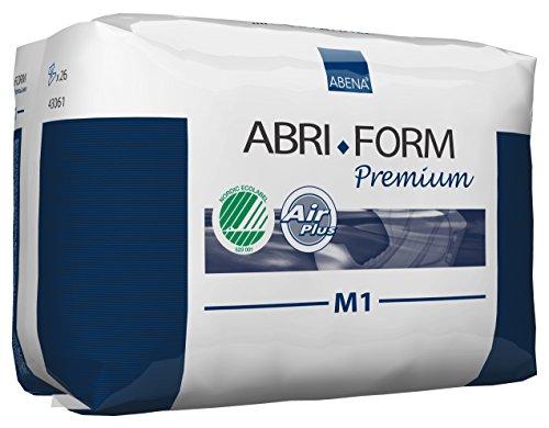 Abena Abri-Form Premium Incontinence Briefs, Medium, M1, 26 Count