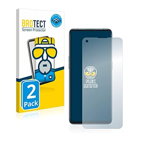 BROTECT Full-Cover Schutzfolie Matt kompatibel mit Oppo Find X3 Pro (2 Stück) - Full-Screen Bildschirmschutz-Folie, 3D Curved, Anti-Reflex