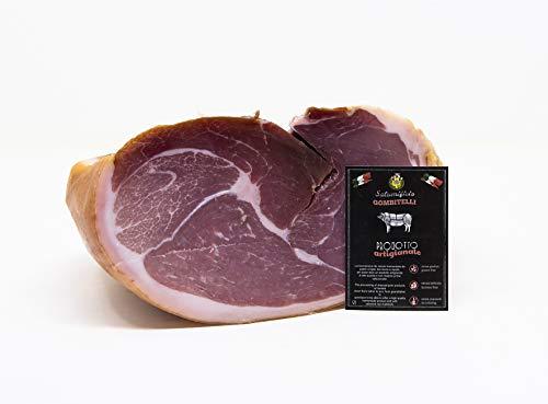 Prosciutto Crudo Semidolce Disossato | trancio sottovuoto da 2,2 kg (parte dell'anca) | Prodotto tipico Toscano | Salumificio Artigianale Gombitelli - Toscana