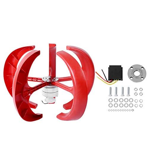 Jadpes Lantaarnvorm, 600 W DC 12 V 5 wind verticale generator bladeren kit met controller stroomgenerator uitrusting 12 LED lantaarn 4 LED zaklamp rood