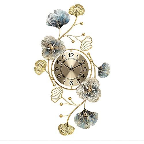 JUSTINZZ Reloj Pared Muy Grande Silencioso Metal Moderno Creativo Decoración Arte 3D Sala Estar Dormitorio Reloj Pared Digital para Obras Arte Oficina Decoración Hotel Interior(Color:Vertical)