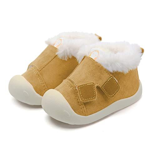 DEBAIJIA Bébé Chaussures Premier Pas pour Enfants Garçons Filles 1-4 ANS Toile Canvas Semelle Souple Antidérapant Légér 19 EU Amarillo(Taille du tag-15)
