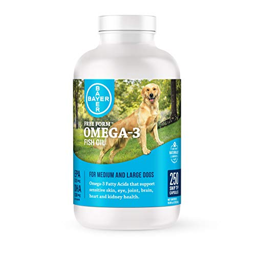 Free Form Snip Tips Omega-3 Fish Oil Liquid Supplement for Medium to Large Dogs, 250 Count, 86571471
