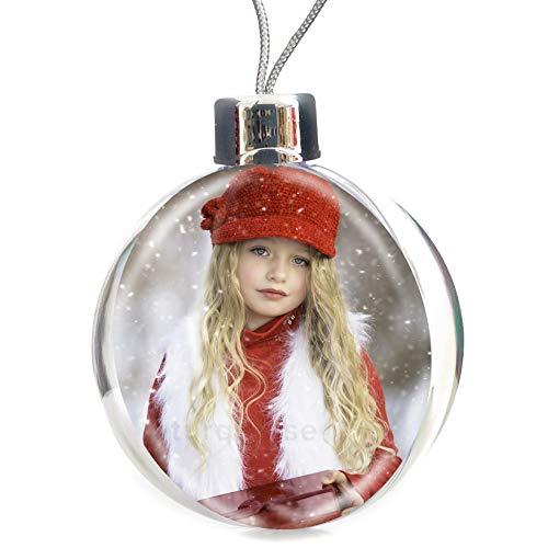 Turquoise Large Personalised Christmas Xmas Photo Bauble Decoration Ornament Gift