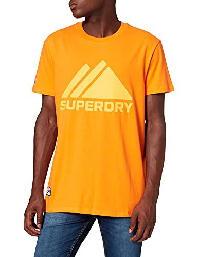 Superdry M1011087a Mountain Sport Mono-Camiseta, Hazard Orange, M para Hombre