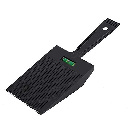Flat Topper Comb - Haarschneide Flat Top Comb, Wide Flat Top Guide Kamm Haircut Clipper Comb Friseursalon Frisur Tool Top Haarkamm mit Wasserwaage (Schwarz)