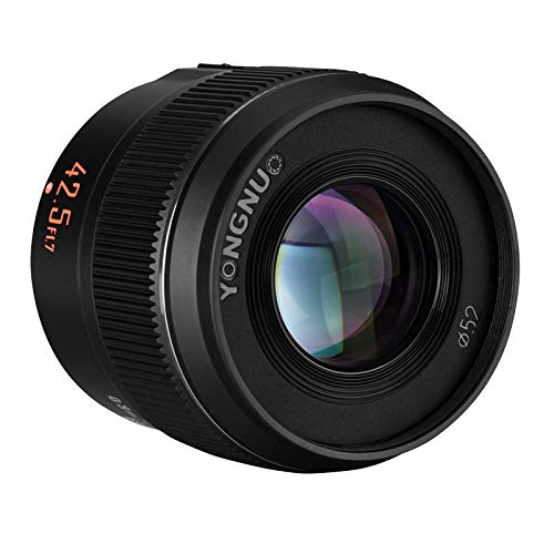 YONGNUO YN42.5mm F1.7M II Auto Focus Fixed Prime Lens for Micro Four Thirds Cameras