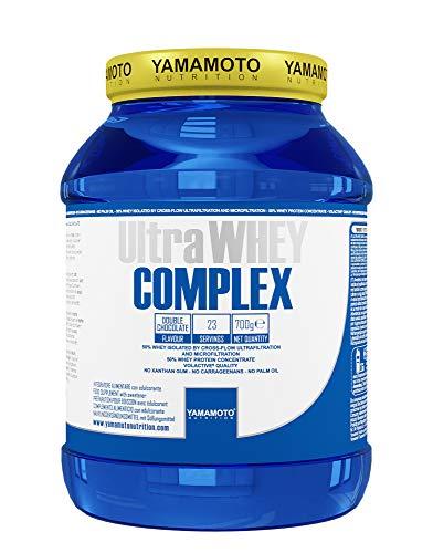 Yamamoto Nutrition Ultra Whey COMPLEX integratore alimentare per sportivi a base di proteine del siero di latte concentrate (Whey Concentrate) ed Isolate (Whey Isolate) (Cioccolato, 700 grammi)
