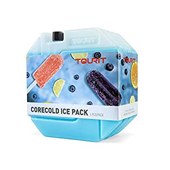 TOURIT Pack de Glace Longue durée pour glacières Bloc de Glace réutilisable pour boîte à Lunch Packs réfrigérants Rechargeables pour Le Camping, la Plage, Les Pique-niques, la pêche et Plus