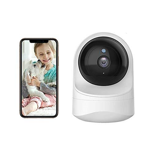 PDFF Cámara de Vigilancia Monitor para Bebé, 1080P HD Visión Nocturna y Audio Bidireccional, Fully Remote Pan Tilt Zoom,Temperature Display, Monitor para Hogar Bebé y Mascota