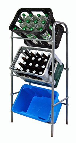 Ks Getränkekistenregal Flaschenkastenregal für 3 Kisten Regal für Getränkekästen 116 x 33 x 50 cm