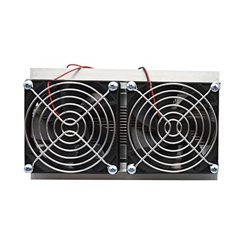 YueQian Refrigeración termoeléctrica Peltier Kit de Sistema de refrigeración Enfriador de semiconductores Radiador Grande Módulo de conducción de frío Ventiladores Dobles