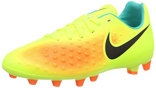 Nike - Jr Magista Opus Ii Ag-pro, Scarpe da calcio Bambino, colore giallo (volt/black/total orange/clear jade), taglia 36.5 EU (4 UK)