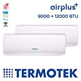 TERMOTEK AIRPLUS C9 12 - CLIMATIZZATORE DUAL-SPLIT 9000 12000 BTU INVERTER A WIFI R32