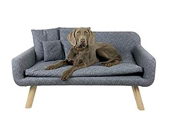 animal-design Canapé pour chien et chat avec coussin Gris