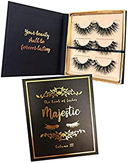 (Special Edition) The Book of Lashes: Volume 3 - Majestic - (Real Mink) - (Reusable False Eyelashes) - (Cruelty Free) - (3 Pairs)