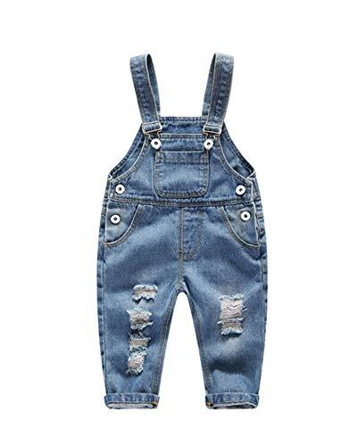 Baby Latzhose Jeans Hosen Overall Lange Jumpsuit Denim